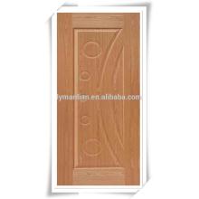 Pele de madeira da porta do folheado da teca da pele da porta da melamina de 3mm 4mm 2.7mm HDF