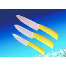 Couteau en céramique jaune, couteau de cuisine, couteau utilitaire (A456)
