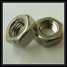 Tuerca hexagonal de acero inoxidable M10