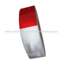 Fita de segurança reflexiva impressa branca / vermelha para o caminhão