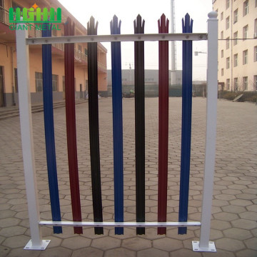 2.4 metre high green steel palisade security fence
