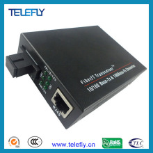Convertidor de medios de fibra única