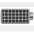 Mini luz de calle solar integrada
