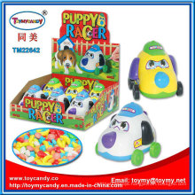 Pushing Plastic Ring Dog Toy with Candy