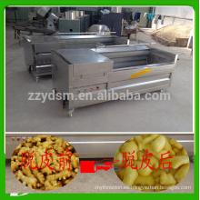 máquina de limpieza de jengibre industrial de alta eficiencia / lavadora con puerto de descarga automática
