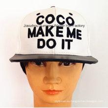 Gorra deportiva de moda de cuero Gorra de cuero bordada Sombrero urbano de moda