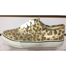 Leoparddruck-Schuh des Leoparden 2014 Leoparddruck vulkanisieren Schuhe Leoparddruck-Segeltuchschuh