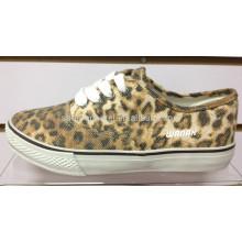Sapata de pano da cópia do leopardo 2014 | cópia do leopardo vulcanize sapatas | sapata de lona da cópia do leopardo