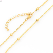 Trendy handcuffs stainless steel necklace,pure gold chain necklace