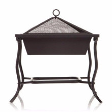 Square Iron Patio Brazier BBQ Grill
