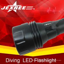 Taktische militärische Taschenlampe mit neuesten Design wiederaufladbare Tauchen cree LED-Taschenlampe