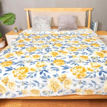Mink Touch Flanela Coral Fleece Bed Throw Manta