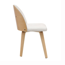 Restaurant Upholstered Nordic Elegant Dinning Wood Chair
