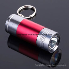 Porte-clés portable lampe de poche avec batterie Li-ion