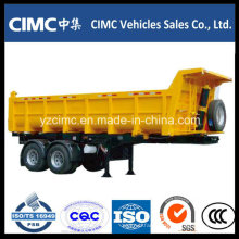 Cimc 2 Axles Dump Semi Trailer Truck