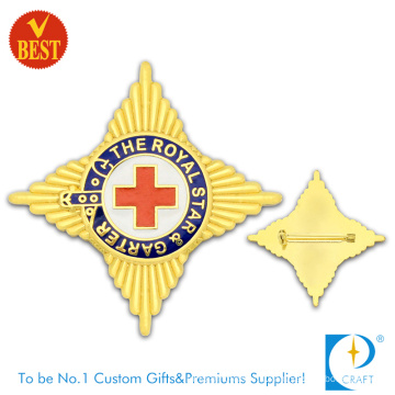 The Royal Star Soft Enamel High Quality Pin Badge with Gold Plating