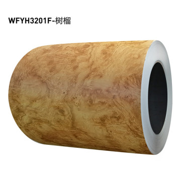 PVC-Folie laminierter Holzmaserstahl