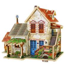 Juguetes de colección de madera para casas globales-Francia Farm House