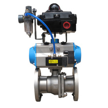 Whole Set Flange Type Ball Valve with Limit Switch Box, Frl, Solenoid Valve