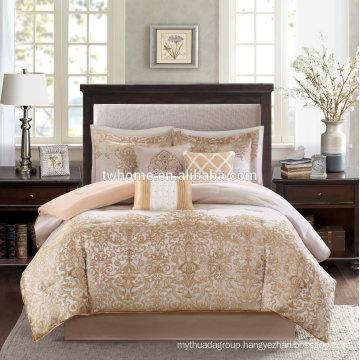 Madison Park Vanessa Comforter Duvet Cover Jacquard Gold Bedding Set