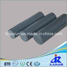 Varilla de plástico gris PVC para ingeniería