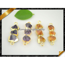 Nature Amethyst Citrine Connector Pendentifs Women Jewelry (EF0119)
