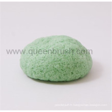 Outils de soin de peau Dry Green Tea Japan Konjac Sponge