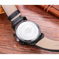 Mode multifonctions montre bracelet grand cadran avec 3eyes et poussoirs pour hommes