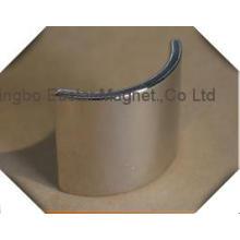Permanente imán arco segmento forma permanente del neodimio imán de neodimio para motores de corriente continua