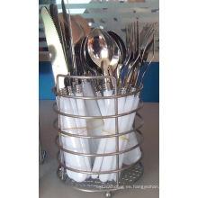 Juego de cuchillos de cocina con mango de plástico