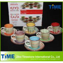 Copo de chá de cerâmica barato e Saucer Atacado