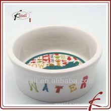 2011 novo estilo porcelana pet tigela