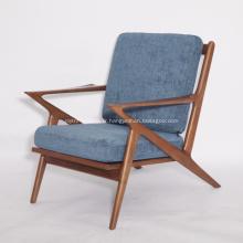 Chaises Selig Z en tissu à structure en bois