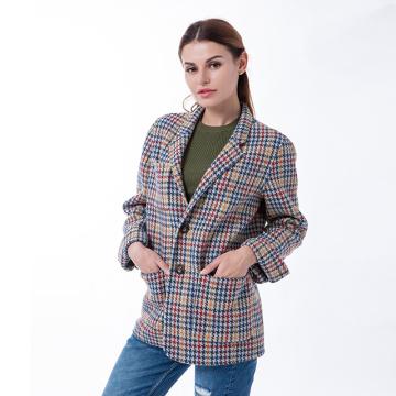 Thousand Birds Checker Cashmere Coat