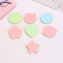Factory Customized School Stationery Eco Paper Printing Different Shaped Die Cut  Custom Sticky Notes Pad