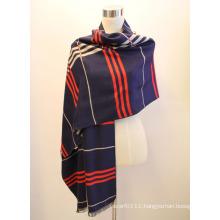 Lady Fashion Viscose Woven Jacquard Fringed Shawl (YKY4411)