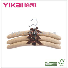 Fabric padded clothes hangers with ribbon bow