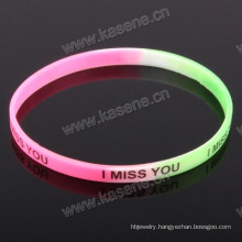 Wholesale Custom Logo Print Fashion Multicolour Rubber Bracelets Personalized