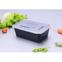 Recipiente descartável plástico do empacotamento de alimento da cor preta da dispo