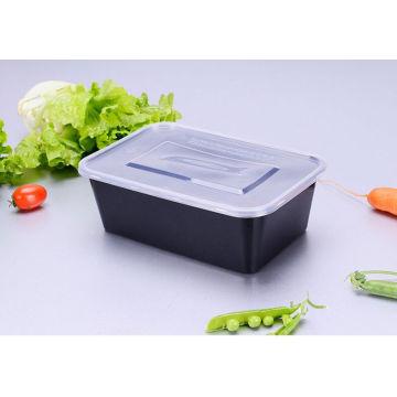 750 Ml-Mikrowellen-sicherer Plastikwegwerfbarer rechteckiger Nahrungsmittelbehälter