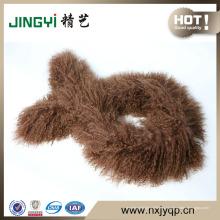 Оптовая Тибет ягненка меховой шарф кожи