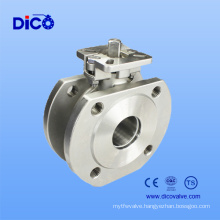 CF8/CF8m Stainless Steel Italy Ball Valve with Wafer End