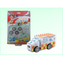 Pädagogisches Spielzeug 3D Puzzle Spiel Pull Back Autos Ambulance (H4551412)