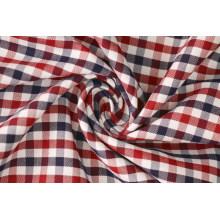Маррона/флот проверки саржевого 60 рубашек ткань хлопок 40