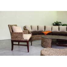 Ancient Tradition Water Hyacinth Coffee and Dining Chair Móveis de vime