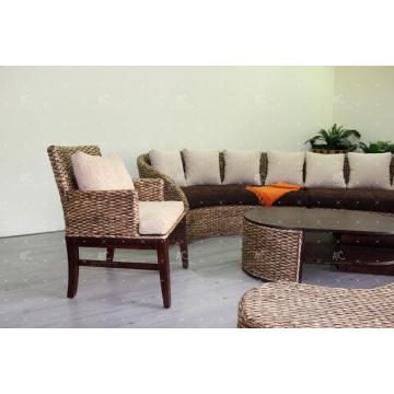 Ancient Tradition Wasser Hyacinth Kaffee und Esszimmer Stuhl Wicker Möbel