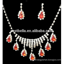 Cheap Jewelry Sets Party Bridal Rhinestone Necklace And Earrings BridalJewelry Sets Design for Wedding