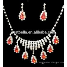 Дешевые комплекты ювелирных изделий партии свадебное ожерелье и серьги BridalJewelry дизайн наборы для свадьбы