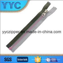 5 # Doppeltes Farben-Plastikreißverschluss Einweg-geöffneter Reißverschluss