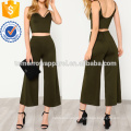Strappy Neck Top & Pants Manufacture Wholesale Fashion Women Apparel (TA4035SS)